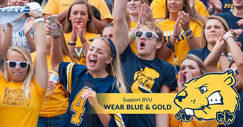 Wear blue and gold